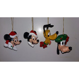Kit 12 Enfeites Arvore Natal Disney Resina Pintado A Mão