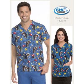 Camisa Estampada Unisex Marca Med Couture, Uniformes Medixos