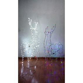 Figuras Navideñas De Alambron, Venado Con Luces Led