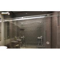 Kit Box Light F1 Cromado 2,00m Banheiro - Sem Vidro