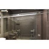 Kit Box Banheiro Light Alumínio F1 Cromado 2,00m - Sem Vidro