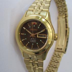 Relógio Orient Automático Feminino Folhado A Ouro Fnq0400ft9