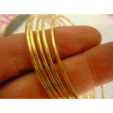 Bracelete De Argola Ouro Feminino 5 Gr 18k