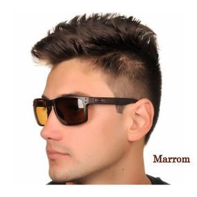 Óculos Oakley Holbrook Masculino Marrom Brown Polarizado