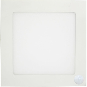 Paflon Led Embutir 12w C/ Sensor De Presença E Emergência 6w