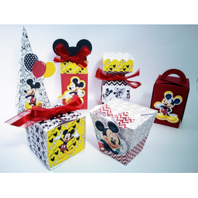 Mickey Mouse Kit Festa Caixas Personalizadas 3d 72 Und.