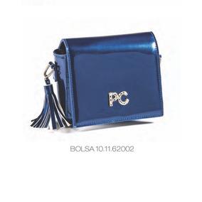 Bolsa Petit Cherie Verniz Azul