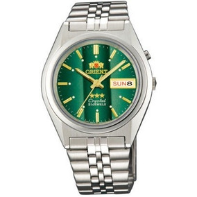 Orient Prata Automatico 21 Jewels - Cristal 3 Estrelas Verde