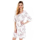 Vestido Floral Japonês Feminino Facinelli - Branco