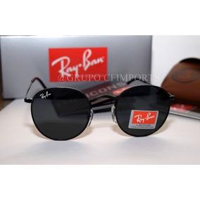 ceac86a4833c6 Óculos Rayban Round Rb3447 Preto Feminino Masculino Cristal. R  120