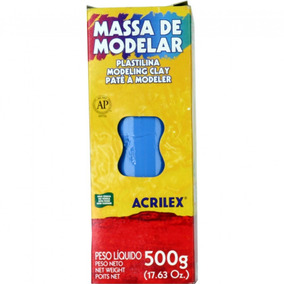 Massa De Modelar Plastilina Azul Turquesa 500 G