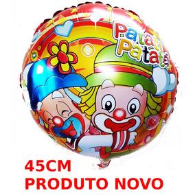 20un Balão Metalizado Palhaços Patati E Patata 45cm