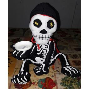Alcancia Calavera Muerte Con Sonido Y Movimiento Halloween