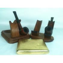 Porta Pipas Vintage Cigarrera Alemana Pipas Inglesas