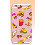 Funda Tpu Comida Chatarra Helado Donas Iphone 5 Se 6 6s Plus