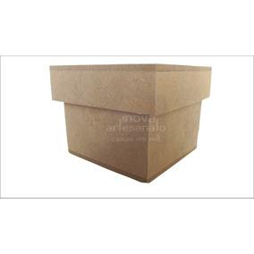 Caixas Em Mdf Cru - Kit Com 50 Caixas 7x7x5 Com Tampa Sapato