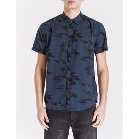 Camisa Bowen Camo C Shirt Manga Corta Con Camuflado