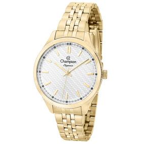 673b7b5106c Relogio Feminino Dourado Champion Cn27527h - Relógios no Mercado ...