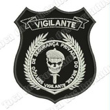 Breve Bordado Vigilante 10x8cm C/ Fix. Marca Velcro® Mlt289