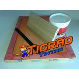 Kit Tela Silk Para Peliculas De Unha Rendada + Tinta + Rodo