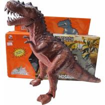 Dinossauro Eletronico 3d Led Anda Sozinho Faz Som Frete Unic
