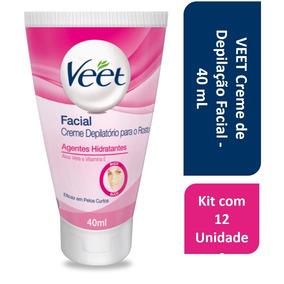Kit Com 12 Veet Creme De Depilação Facial - 40 Ml