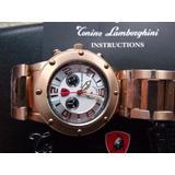 Reloj Tonino Lamborghini Suizo Chapa Oro Rosado Crono