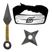 Cosplay Naruto Banda Itachi Hoja Konoha Renegado Kunai Ninja