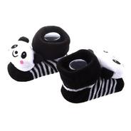 Par Sapatinho Bebê Neném Pantufa Meia Anti-derrapante Panda