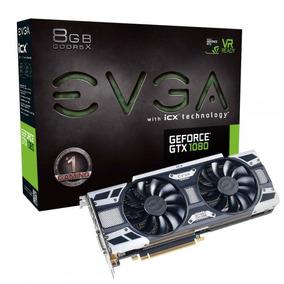 Placa De Vídeo Nvidia Geforce Gtx 1080 Gaming 8gb Ddr5 Evga