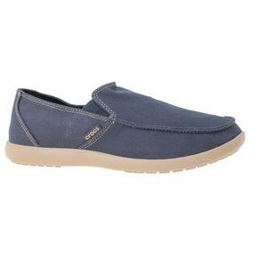 Zapatillas Crocs Santa Cruz Clean Cut Loafer Hombre Az/be