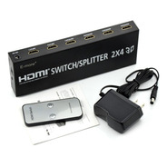 Switch Hdmi E-more 2x4 Hdmi Splitter Switch 2 Input 4 Output