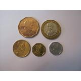 5 Monedas Chilenas.- (j57).-