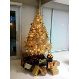 Paquete De Árbol De Navidad Dorado Con Series Y Esferas