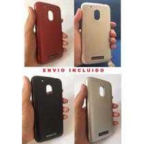 Wow Case Funda Metalizado Moto G4 Play Xt1601 Negro Plata