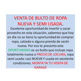 Lote,bulto De Ropa De Dama Semiusada,new Oferta Revendedores