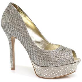 Sapato Zariff Shoes Peep Toe Glitter   Zariff