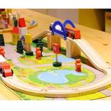 Autopista De Madera Didactica Infantil Para Armar 29 Piezas