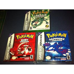 3 Cajas Custom Para Juegos Pokemon Ruby + Emerald + Sapphire