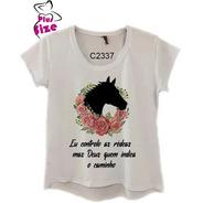 Camiseta Feminina Frase Cowgirl Religiosa C2337
