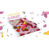 Lona Playera Picnic Estampada Rosa Mujer Nena Pileta Corazon