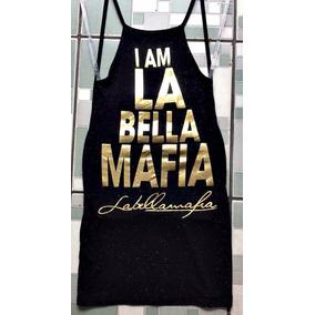 Vestido Viscolaycla La Bella Mafia Cavado Costa Nua