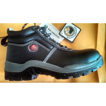 Zapatos Punta De Acero Cuero Ideal Para Mina Talla 38