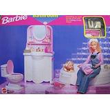 Juguete Barbie Plegable Bonito Cuarto De Baño Playset Casa