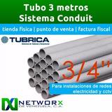 Tubo Pvc Tubrica 3/4 3mts Electricidad Redes Camaras Alarma