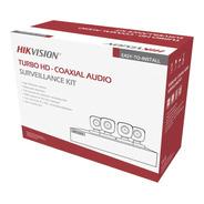 Kit Cctv 4 Cámaras  Hikvision 5 Mpx Turbo Hd Audio/exterior