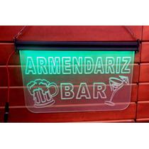 Bar Letrero Luminoso Led Acrílico Anuncio Perzonalizado