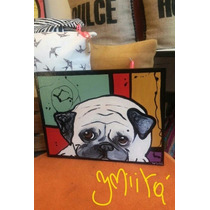 Cuadros Perro Bulldog Mascota Pintados A Mano Unicos!