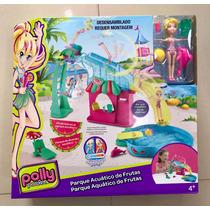 Nova Polly Pocket Parque Aquático De Frutas Mattel