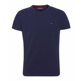 Tommy Hilfiger : Camisa Básica Masculina Azul Marinho Tam M